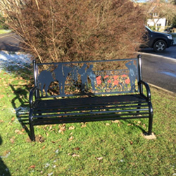 First World War memorial bench on the Glebe